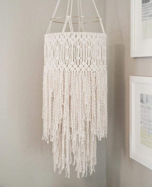 kit DIY para Lámpara en Macramé. Club del Macramé